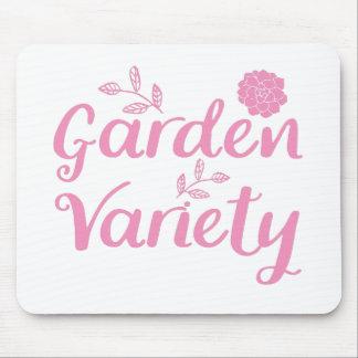 Garten - Vielzahl im Rosa mit Blumen Mousepad