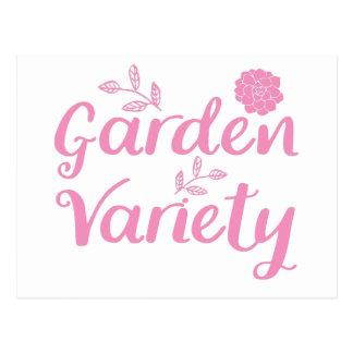 Garten - Vielzahl im Rosa mit Blumen Postkarte