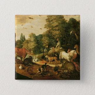 Garten von Eden (Öl auf Leinwand) Quadratischer Button 5,1 Cm