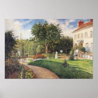 Garten von Les Mathurins bei Pontoise durch Poster