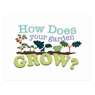Garten wachsen postkarte