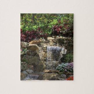 Garten-Wasserfall-Puzzlespiel Puzzle
