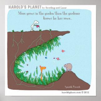 Gartenarbeit Poster