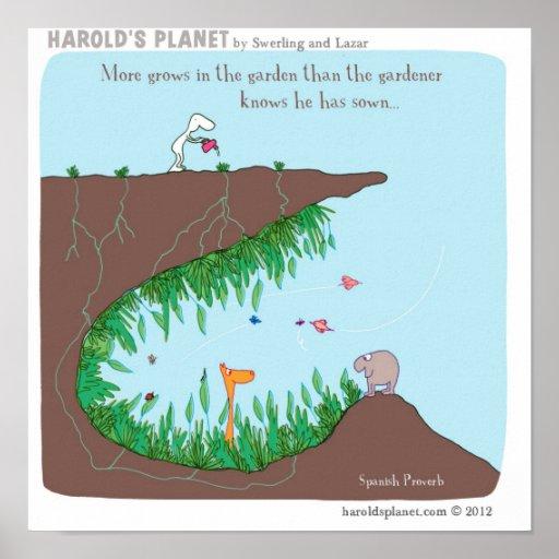 Gartenarbeit Plakat
