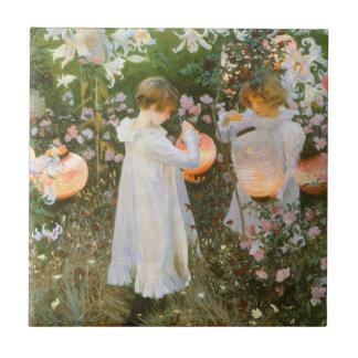 Gartennelke, Lilie, Lilie, Rose durch John-Sänger Fliese
