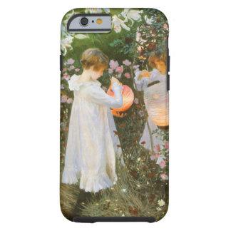 Gartennelke, Lilie, Lilie, Rose durch John-Sänger Tough iPhone 6 Hülle