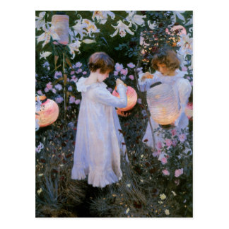 Gartennelke, Lilie, Lilie, Rose Postkarte