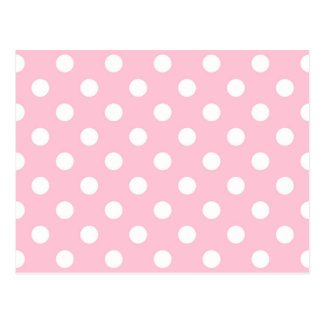Gartennelken-rosa Tupfen-Muster Postkarte