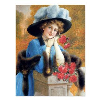 Gartennelken sind für Liebe im Detail Émile Vernon Postkarte
