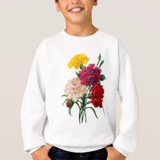 Gartennelken-und Ringelblumen-Blumenstrauß durch Sweatshirt