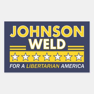 Gary Johnson/Schweißungs-liberalistische Wahl Rechteckiger Aufkleber