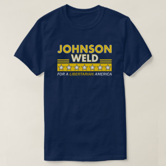 Gary Johnson/Schweißungs-liberalistischer T-Shirt