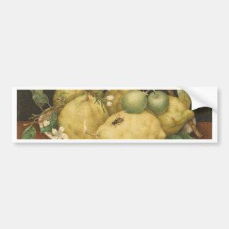 Garzoni - Stillleben mit Schüssel Zitronen Autoaufkleber