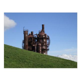 Gas bearbeitet Park Postkarte