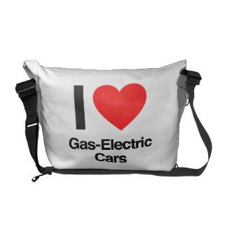 Gas-elektrische Autos der Liebe I Kuriertaschen