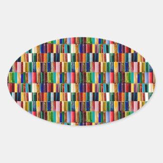 Gas-Feuerzeug-Muschel-kreative abstrakte Ovaler Aufkleber