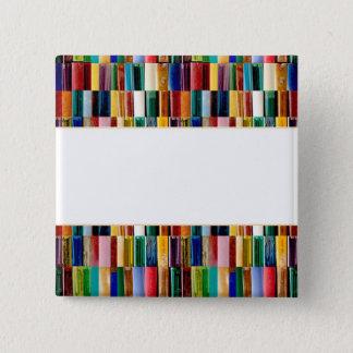 Gas-Feuerzeug-Muschel-kreative abstrakte Quadratischer Button 5,1 Cm