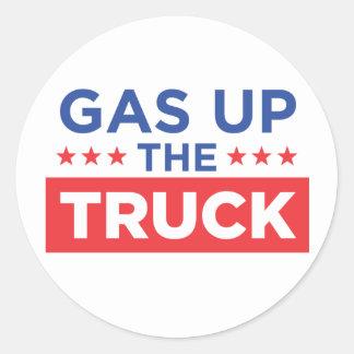 Gas herauf den LKW Runder Aufkleber