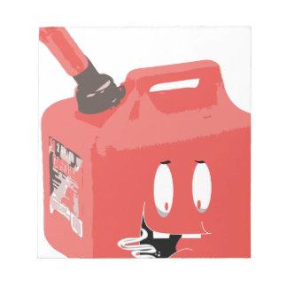 Gas-können Sie Notizblock