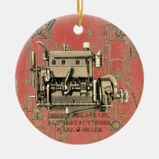 Gas-Motor B-3 Wisconsin-BewegungsMilwaukee Keramik Ornament