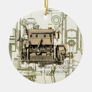 Gas-Motor B-3 Wisconsin-BewegungsMilwaukee Keramik Ornament