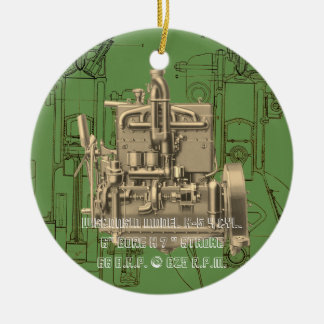 Gas-Motor K Wisconsin-BewegungsMilwaukee Wisconsin Keramik Ornament