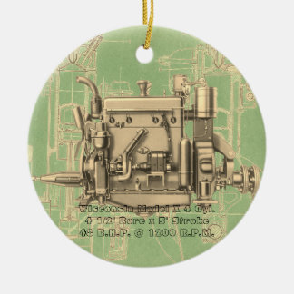 Gas-Motor Wisconsin-BewegungsMilwaukee Wisconsin X Keramik Ornament