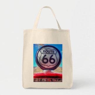 Gas-Pumpe des Weg-66 Leinentaschen