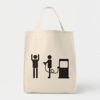 Gas-Pumpen-Raub Einkaufstasche