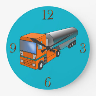 Gas-Tanker-LKW-schwerer Transporter für Kinder Große Wanduhr