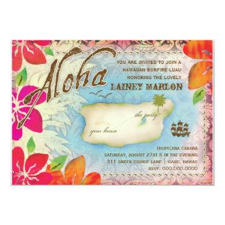 GASCHROMATOGRAPHIE Aloha Luau Insel 2 12,7 X 17,8 Cm Einladungskarte