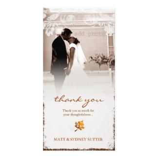 GASCHROMATOGRAPHIE   gealterte Hochzeit im Herbst Photokarten