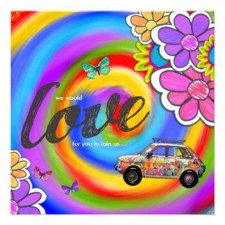 GASCHROMATOGRAPHIE | Hippy gefärbte Krawatte laden Personalisierte Einladung