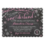 GASCHROMATOGRAPHIE rosa Winter ONEderland Individuelle Einladungen