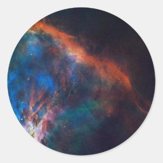 Gasfeder nahe Orion durch die NASA Runder Aufkleber