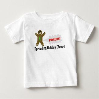 Gashaltiger Baby-Weihnachtslebkuchenmann T - Shirt