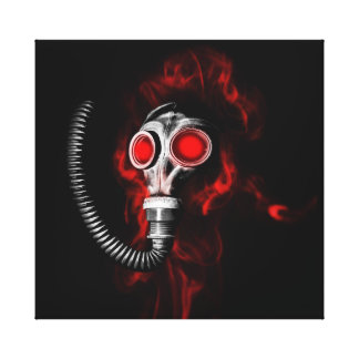Gasmaske Leinwanddruck