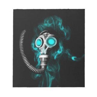 Gasmaske Notizblock