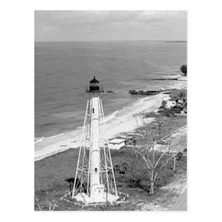 Gasparilla Insel-Rückseiten-Strecken-Leuchtturm Postkarte