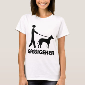 Gassigeher Hundewanderer hund T-Shirt