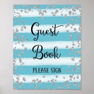 Gast-Buch-Hochzeits-Plakat-Druck Poster