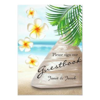 Gast-Buch-Zeichen - Hochzeit auf dem Strand 12,7 X 17,8 Cm Einladungskarte