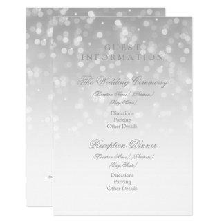 Gast-Informations-Silber Bokeh Schein-Lichter 8,9 X 12,7 Cm Einladungskarte