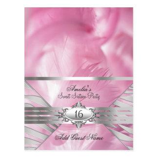 Gast-Namenskarten-Rosa-Bonbon 16 Postkarte