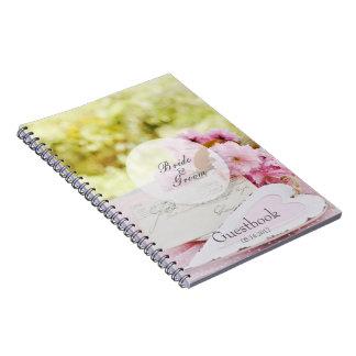 Gastbuch loveletter Blume des Frühlinges Vintages Notizblock