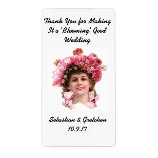 Gastgeschenk Hochzeits-Aufkleber Großer Adressaufkleber