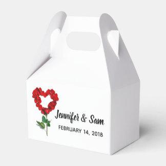 Gastgeschenk Hochzeits-Kästen Herz-Rote Geschenkschachtel