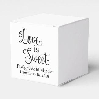 Gastgeschenk Hochzeits-Kasten - Liebe ist süß Geschenkschachtel