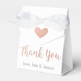 Gastgeschenk Hochzeits-Kasten mit Rosen-Gold Geschenkschachtel
