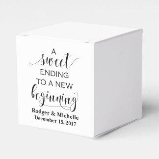 Gastgeschenk Hochzeits-Kasten - süßes Ende zum Geschenkkarton